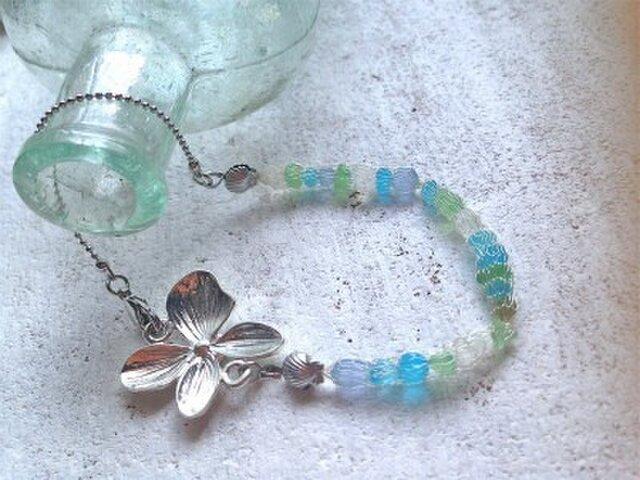 Seashore Bracelet with Orchidの画像1枚目