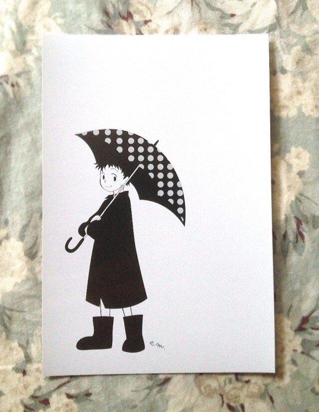 水玉雨傘の画像1枚目