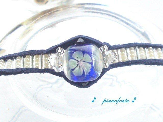 braccialetto di fiore bluの画像1枚目