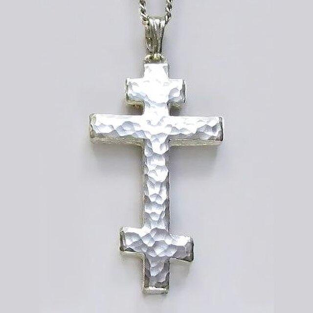 ロシア正教のクロス 槌目光沢仕上げのロシア正教の十字架 rc03a 好評ですの画像1枚目