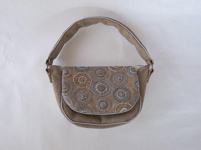 ハンドバッグ[木の実] 茶色の画像1枚目