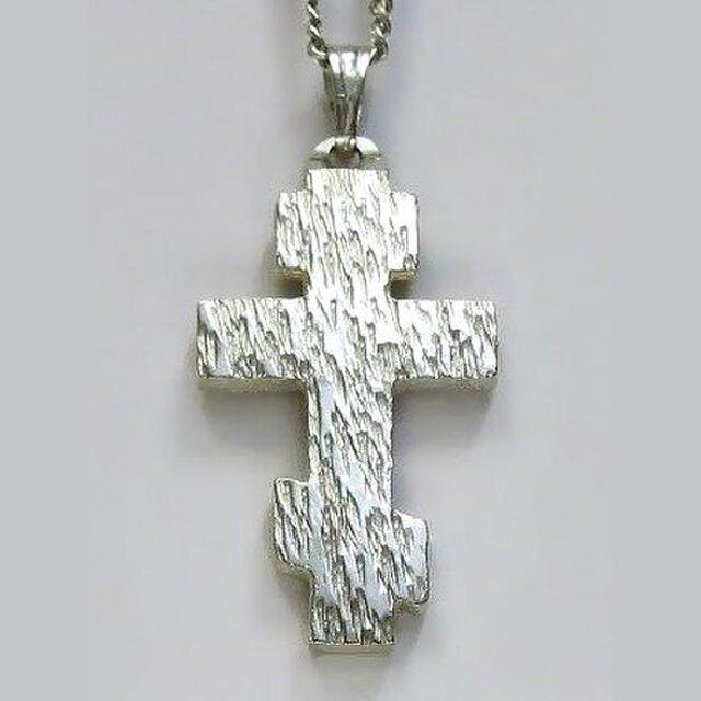 ロシア正教のクロス 木肌光沢仕上げの幅広のロシア十字架 rc05d 好評ですの画像1枚目