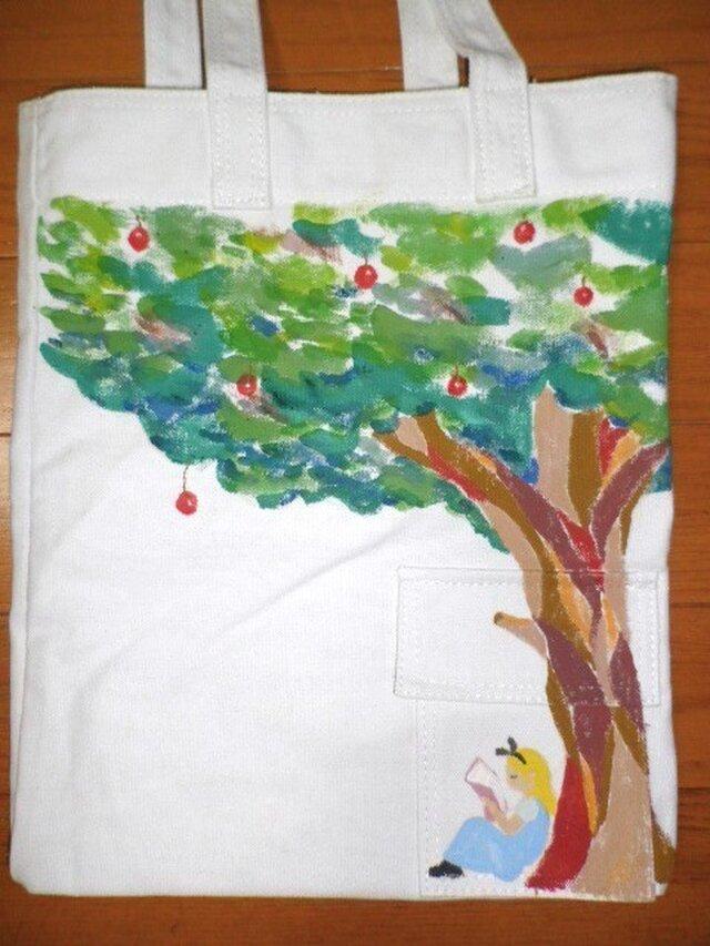 キャンバストート りんごの木の画像1枚目