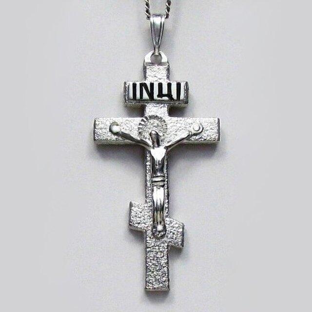 ロシア正教のクロス 大きなロシア十字架の受難像 rc39 好評ですの画像1枚目