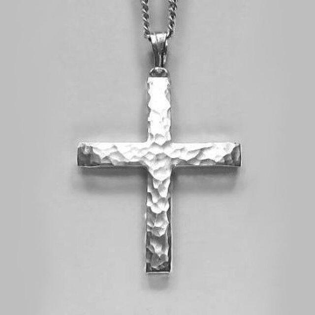 ギリシャ正教のクロス 槌目光沢仕上げの小さなギリシャ十字架 gc03b 好評ですの画像1枚目