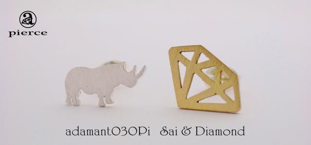 Sai & Diamond ピアス【adamant】の画像1枚目