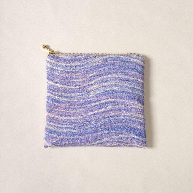 絹手染ポーチ(淡紫・しかく)の画像1枚目