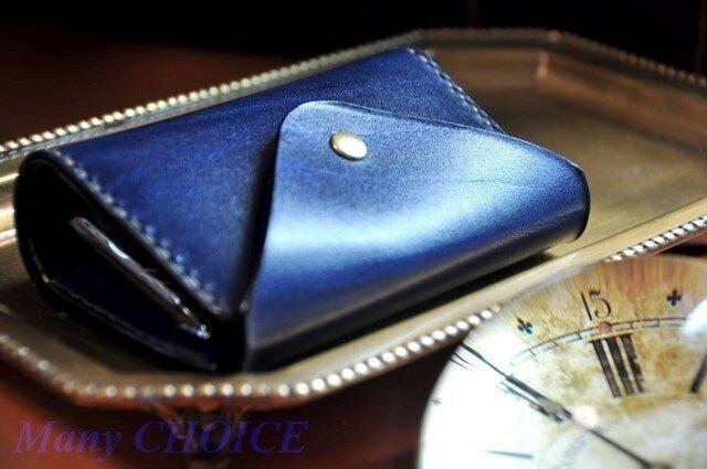 革の宝石・ルガトー・コインキャッチャー財布(紺)の画像1枚目