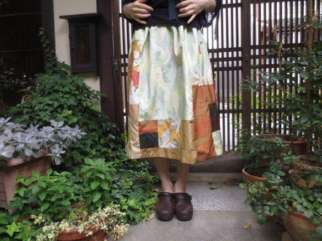 着物スカート☆夏から秋へ…お食事会やパーティにもに♪73㎝丈の画像1枚目