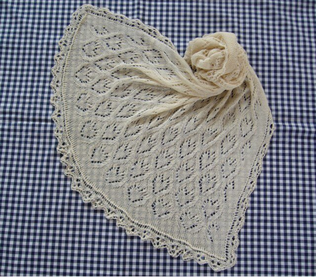 ♥♥棒針編みレースのブランケット♥♥の画像1枚目