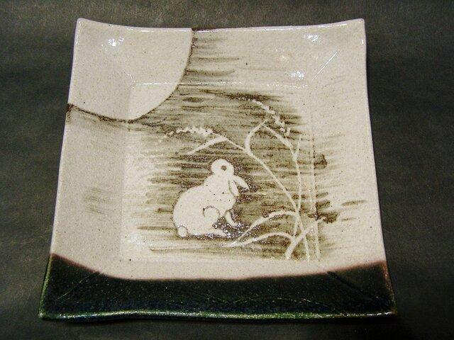 正方形陶板(うさぎ)の画像1枚目