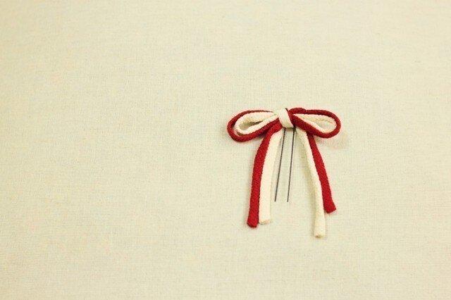 ちりめんリボン/紅白の画像1枚目