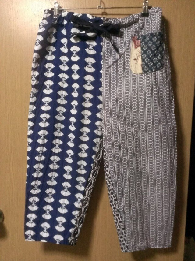 男女兼用 浴衣地ズボン 140801-02の画像1枚目