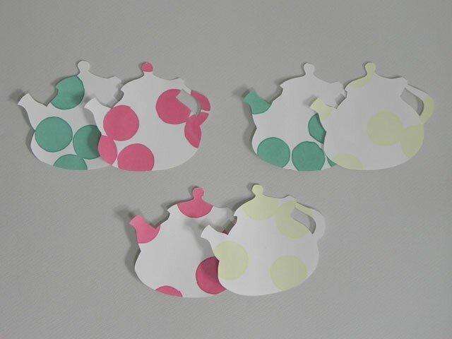 水玉カードTea Pot Dotの画像1枚目