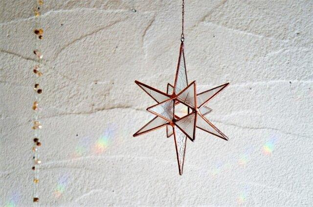 アンティーク硝子の星の煌きオーナメント*Cの画像1枚目