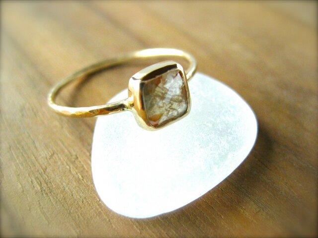 Organic Beige Diamond Ring 14kの画像1枚目