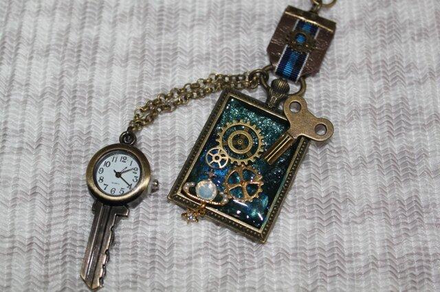 鍵型時計付き、小宇宙の浪漫の画像1枚目