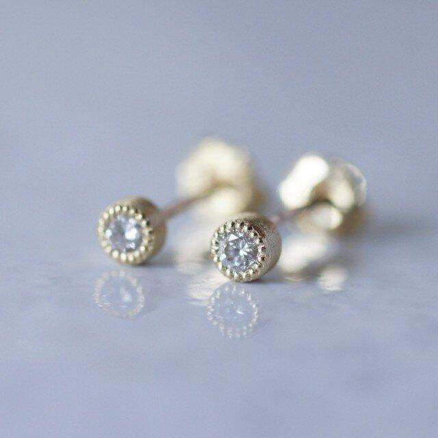 Diamond earrings {EP032K10YG(D)}の画像1枚目