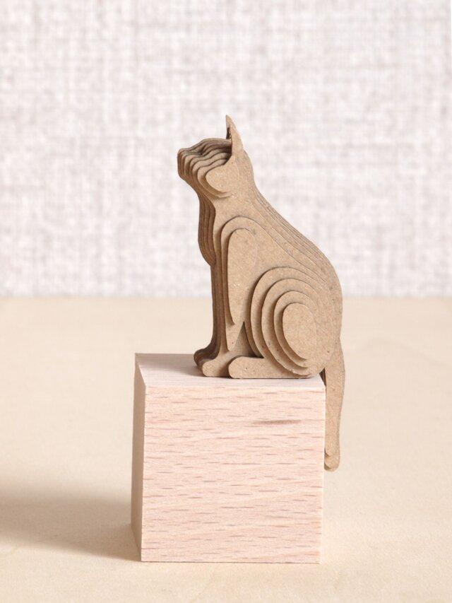 【工作キット】段々猫-sitting-aの画像1枚目