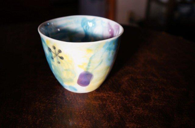 水彩カップ蕎麦猪口 infc14018-008の画像1枚目