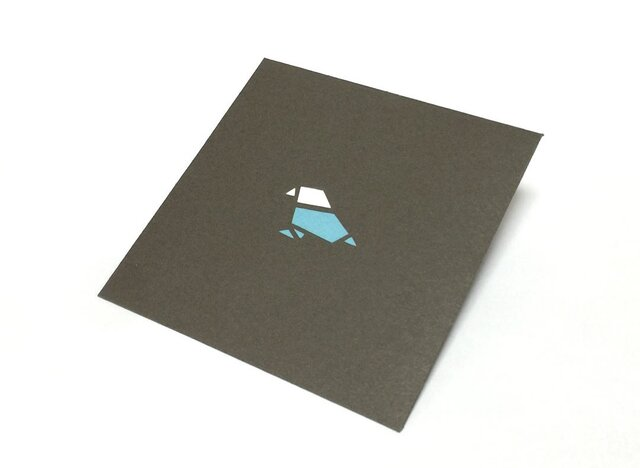 【切り絵ぽち袋】 鳥(大サイズ) 2枚セットの画像1枚目