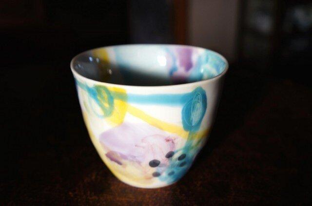 水彩カップ蕎麦猪口 infc14018-009の画像1枚目