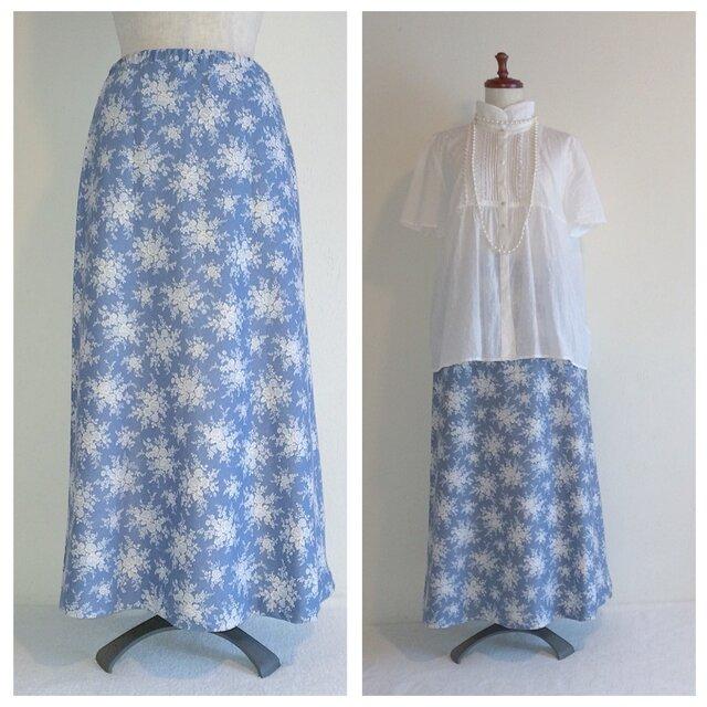 マーメイドスカート(シルクブーケ:ブルー)の画像1枚目