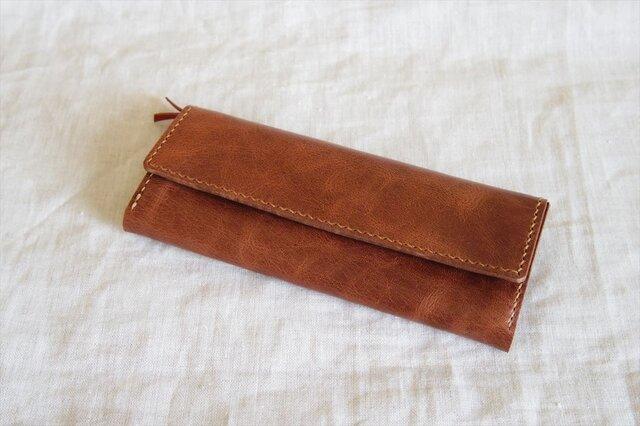 【M様オーダー品】ラクダ革のシンプルな長財布の画像1枚目