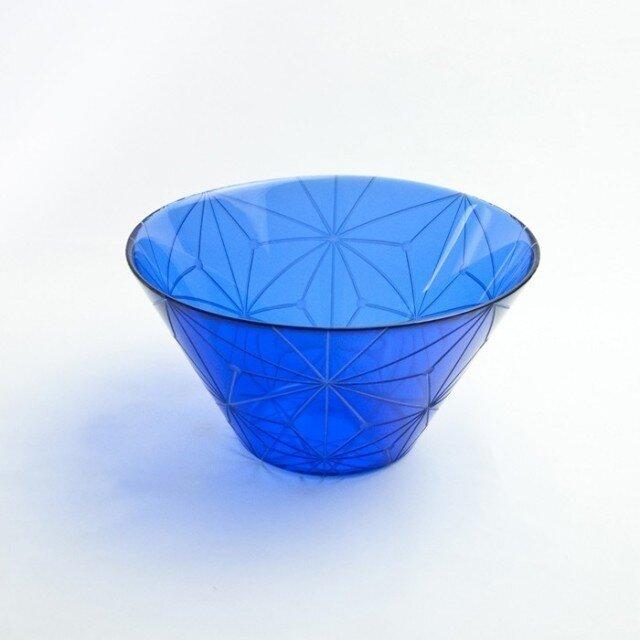 東京切子(花切子)サラダボウル 千代紙 青の画像1枚目