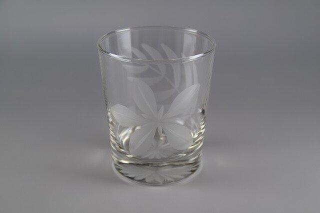 東京切子(花切子)ロックグラス プルメリアの画像1枚目