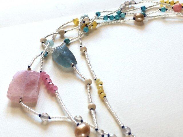 drops☆みずみずしい天然石のネックレスの画像1枚目