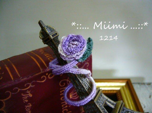 *:. 指先に薔薇 ♪ ワイヤ-入り指輪 183 .:*の画像1枚目