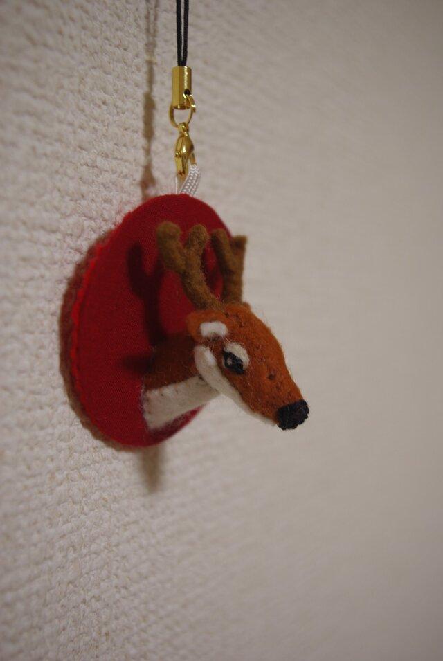 セレブな鹿のプチ壁飾りの画像1枚目