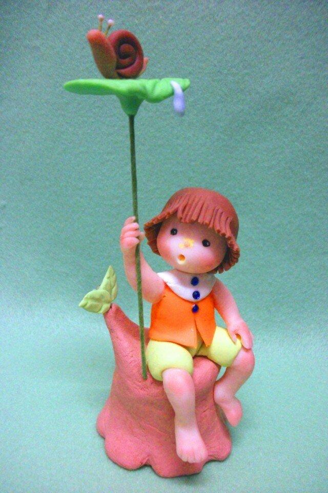 葉っぱの傘の画像1枚目