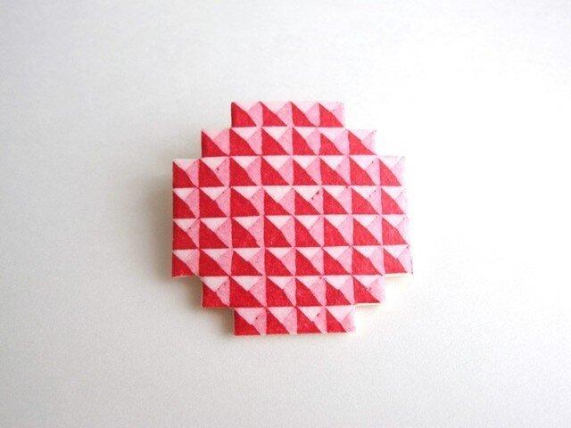 :Sale: ブロックブローチ/ 円(赤)の画像1枚目