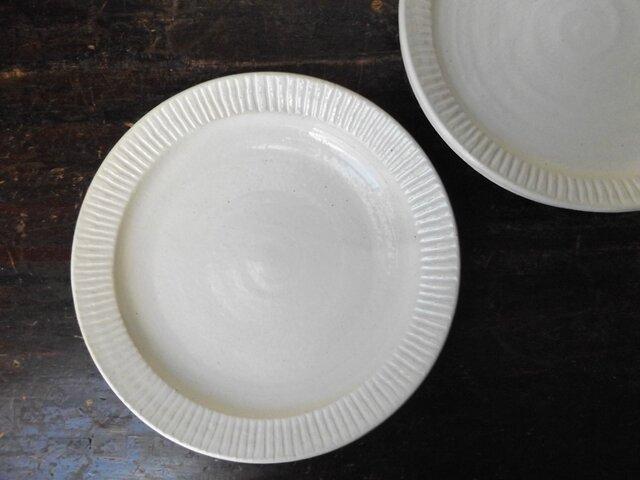 粉引きパスタ皿(放射線)の画像1枚目