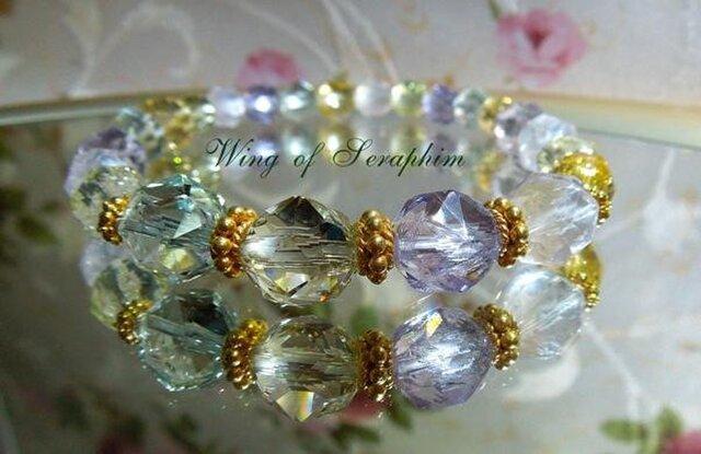 (SOLD)夏っ!宝石質のシャーベットカラー☆ブレスの画像1枚目