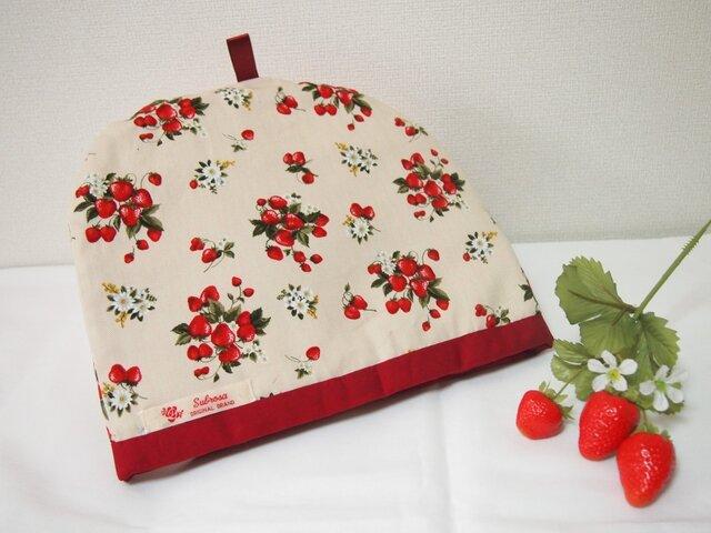 大人可愛い苺のティーコゼー の画像1枚目
