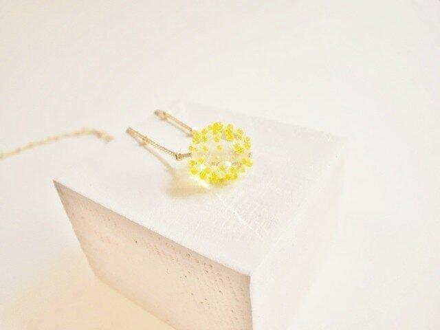 Hikari Tubu ネックレス  yellowの画像1枚目
