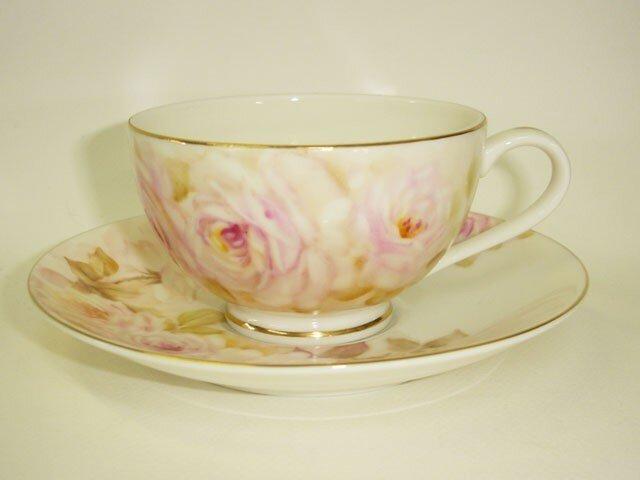 はんなり薔薇のカップ&ソーサー(1)の画像1枚目