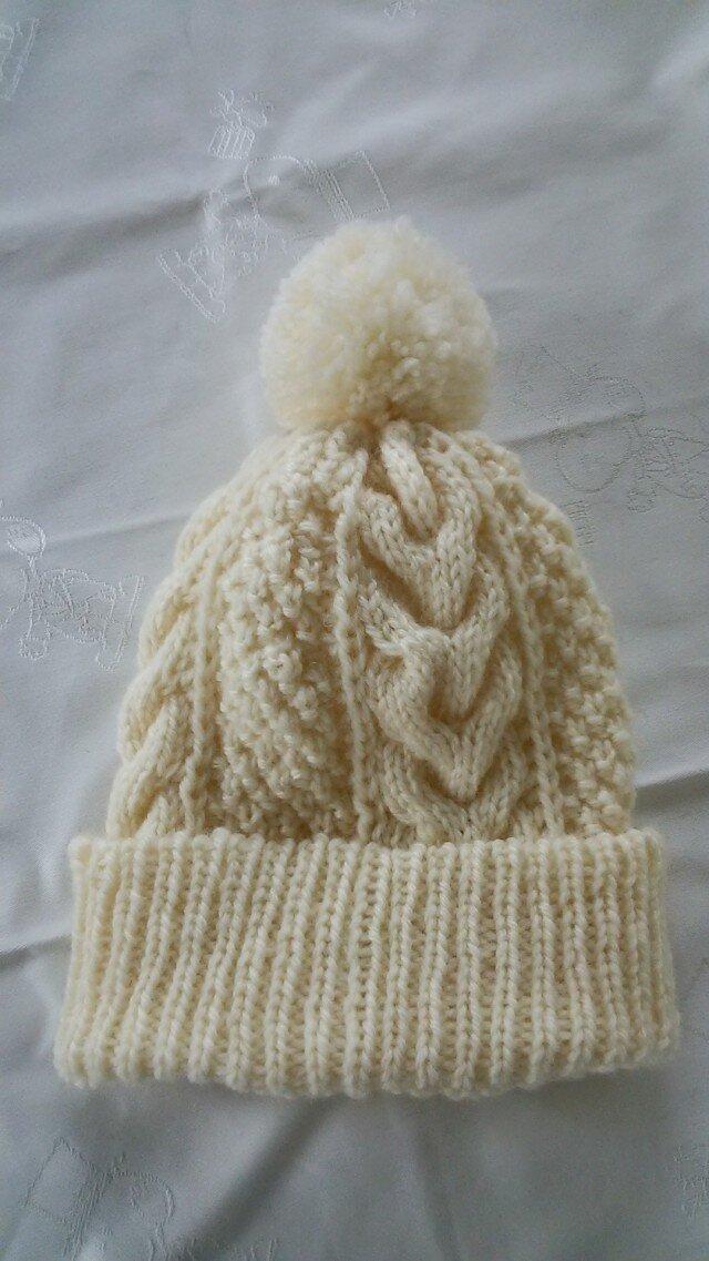 アラン模様の帽子2の画像1枚目