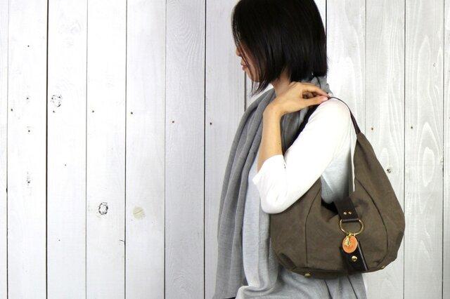 polta mini-オリーブ(タンニン染め帆布×レザーバッグ)の画像1枚目