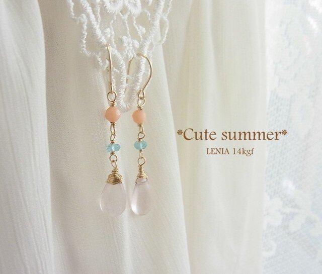 Cute summer 14kgfピアスの画像1枚目