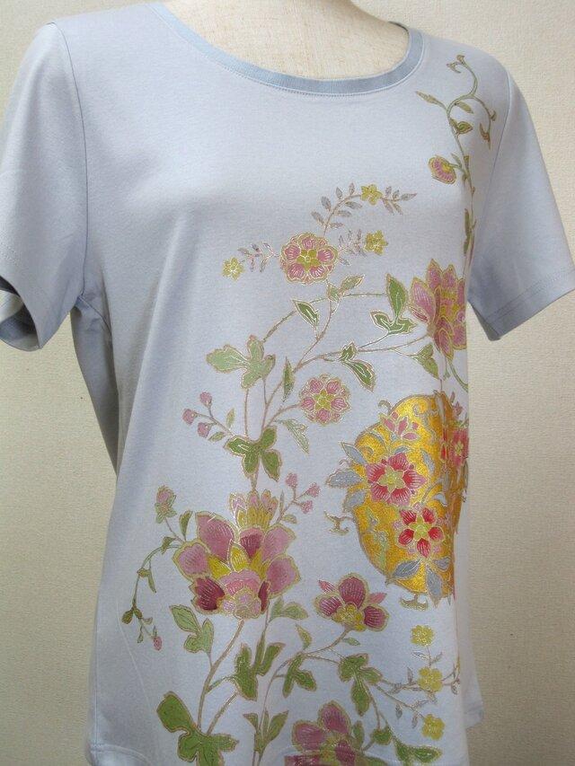 草花  手描Tシャツの画像1枚目