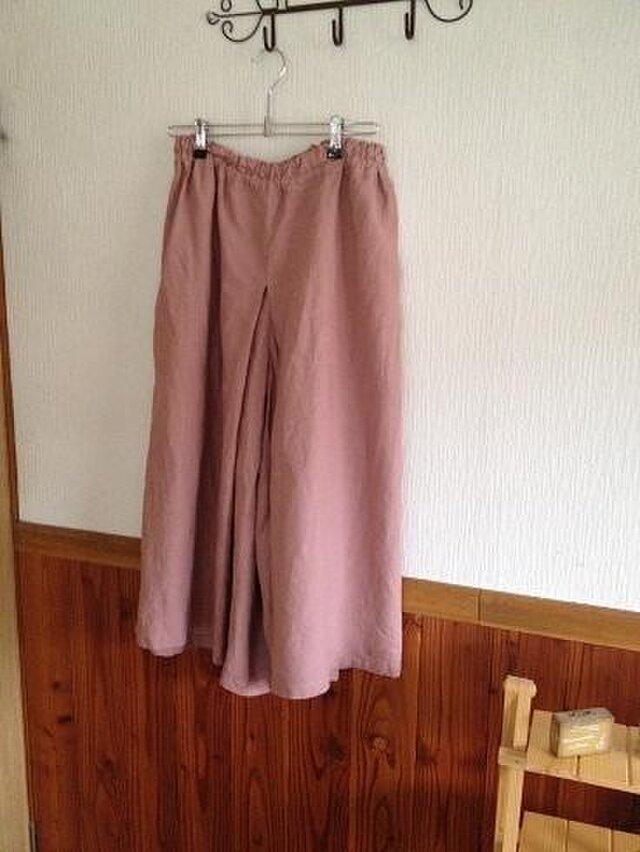 くすんだ感じのピンク系 袴パンツ M~Lの画像1枚目