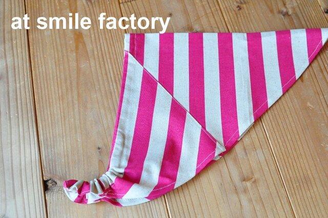 ピンクの三角巾(送料無料)の画像1枚目