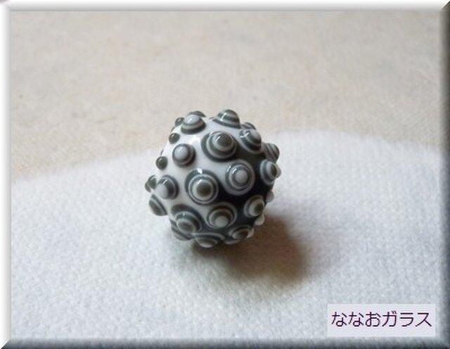 tsubutsubu幾何学模様のとんぼ玉の画像1枚目