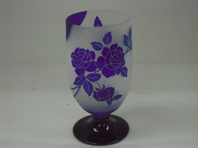 バラ紋様【ビールが旨い不思議なグラス】の画像1枚目