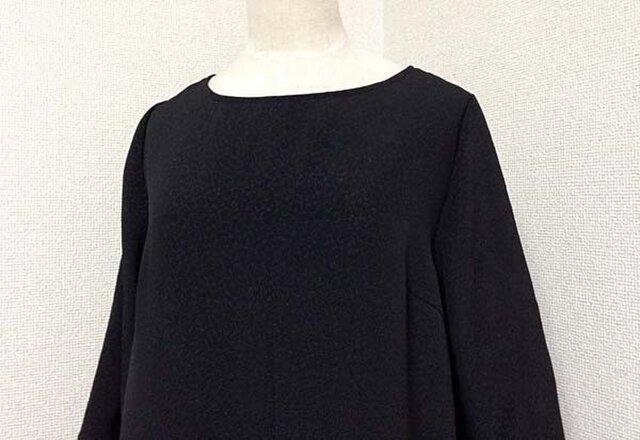 着物から裾柄切替のチュニックの画像1枚目