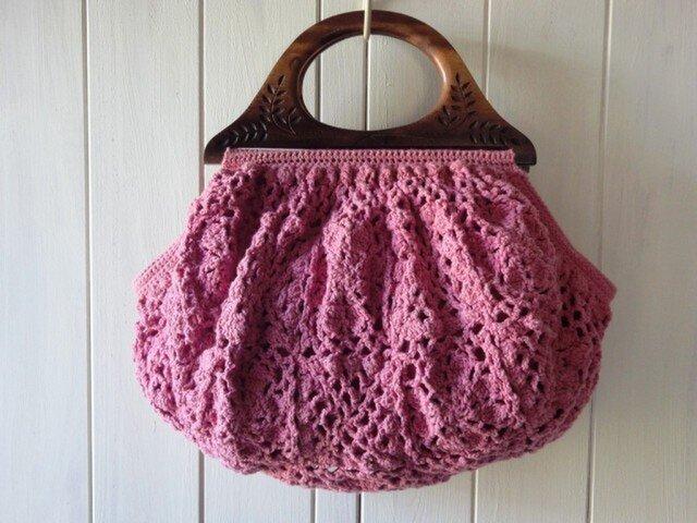 〈草木染め〉モチーフ編みのグラニーバッグの画像1枚目